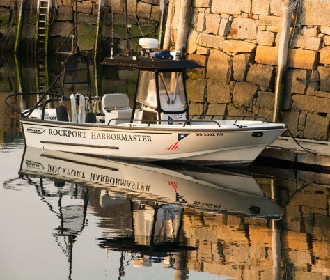 When I photographed the Harbormaster's little boat, it sat just under Motif no. 1.