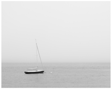 de Flon_N_Lone Boat in Fog_Digital photography_14x11